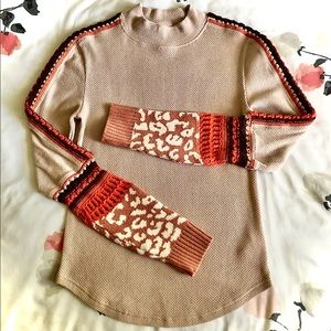 Free People Switch It Up Thermal Knit Top